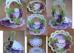 Cvetnifantazii - gorgeous easel card frame