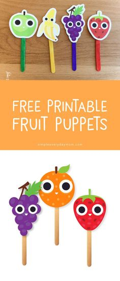 free printables for kids   printable puppets   fruit activity   creative play