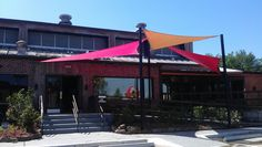 we also custom make our unique shade sails with different colors to choose from! check out diablo loco's shade structure! #awnings #shadestructures #canopies