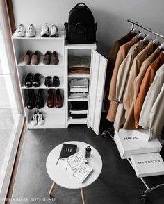 Http://instagram.com/Bloggers_boyfriend wardrobe organising. Men's wardrobe bedroom organizing how to warehouse industrial Interior. Sacandinavian inspirations inspo minimal home bedroom bachelor pad. concrete all grey minimalism minimalism blogger design lifestyle Melbourne Sydney Perth Australia floor west Elm Calibre Australia Men's clothes menswear menstyle
