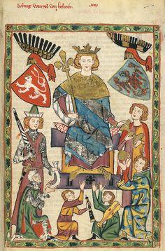 Codex Manesse, fol. 10r, 1305-1340, Zürich.