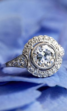 A flawless vintage halo ring.