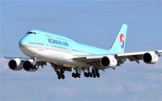blogdetravel: Primul Boeing 747 - 8 Intercontinental pentru Kore... Boeing 747 8 Intercontinental, Korean Air, Aircraft, Vehicles, Aviation, Plane, Airplanes, Car, Airplane