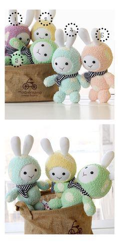DIY Kit chaussette poupée Bunny à la main avec par LittleJenStore
