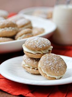 Chai Latte Sandwich Cookies #christmas #holiday #cookies