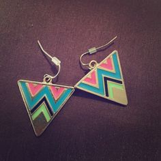 Aztec design with cute colors! Buy them or get them for free in a bundle! Jewelry Earrings
