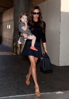 Victoria Beckham and daughter