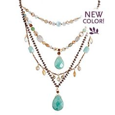 Holly Yashi Tabatha necklace in Amazonite/Ocean