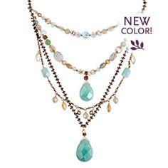 Holly Yashi Tabatha necklace in Amazonite/Ocean