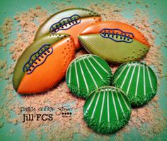 football cookies! https://www.facebook.com/pages/Jill-FCS/212511055506815
