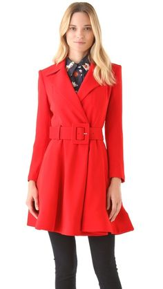 alice + olivia Loris Flare Coat | SHOPBOP  This coat actually makes me look forward to fall!