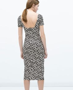 Image 4 of DRESS WITH LOW-CUT BACK from Zara