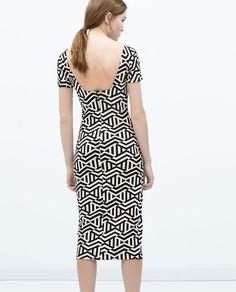my new dress: ZARA - TRF - DRESS WITH LOW-CUT BACK