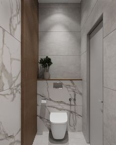 Small Toilet Room, Small Bathroom, Modern Bathroom Decor, Bathroom Interior Design, Wc Design, House Design, White Marble Bathrooms, Powder Room Design, Bathroom Inspiration