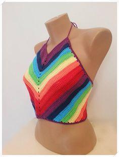 Crochet Halter TopCrop Top Crochet Bikini Top Crochet