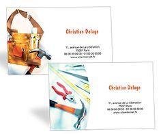 Cartes De Visite Professionnelles Bricolage Et Travaux