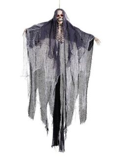 Halloween Hanging Skeleton 1.82m Giant Ghost Light Up Eyes Prop Halloween Decor