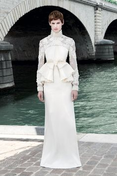 Featured @ http://weddinginspirasi.com/2011/07/07/givenchy-fall-2011-couture-collection/