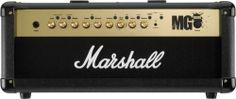 Marshall MG100HFX 100 Watt Amplifier Head by Marshall. $359.99. The Marshall thrill lasts a lifetime, and it all begins here with the updated MG Series. Using a proven panel design that is simple to use, the MG Series combine pure analogue tone with super-silent digital channel switching. The MG100HFX head offers four programmable channels, digital reverb, plus digital effects with Tap Tempo delay control. Includes dual footswitch; This FX model can also be used with our re...
