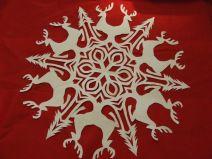 Homemade christmas raindeer snowflakes