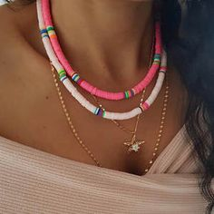 Surf Necklace, Beaded Choker Necklace, Seed Bead Necklace, Collar Necklace, Layered Necklace, Statement Necklaces, Pendant Necklace, Boho Jewelry, Beaded Jewelry
