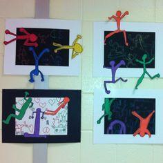 Keith Haring Inspired- 1st Grade Art (art teacher: v. giannetto)