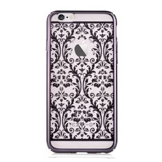 Coque iPhone 6 / 6s Crystal Baroque - Noir