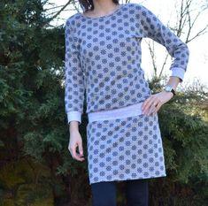Dámské úpletové šaty Polka Dot Top, Dresses With Sleeves, Blouse, Long Sleeve, Model, Tops, Fashion, Polka Dot Shirt, Blouse Band