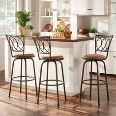 Shop for TRIBECCA HOME Avalon Scroll Adjustable Swivel Counter Barstool (Set of 3) and more for everyday discount prices at Overstock.com - Your Online Furniture Store!