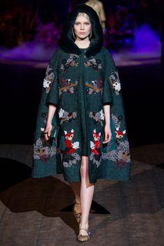 Ola Rudnicka at Dolce & Gabbana RTW F/W 2014