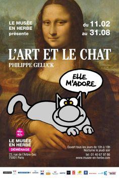Expo Philippe Geluck, L'Art et Le Chat - Musée en Herbe - 11 février 2016  / 31 août 2016  - Tous les jours (sauf fériés) 10h-19h, jeudi jsq 21h   - entrée 6€