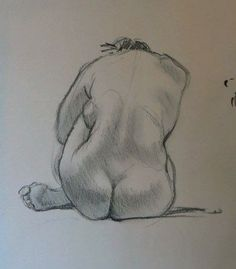 Life Drawing Sketches - Form And Substance - Charcoal