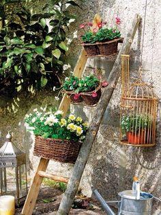 Wooden ladder in the #garden. #DIY