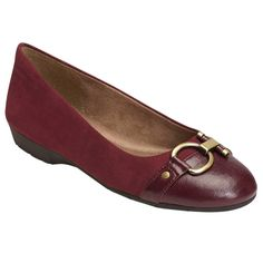 Women's A2 by Aerosoles Ultrabrite Ballet Flats - Wine (Red) 8