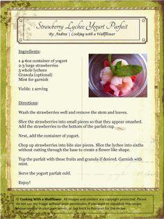Strawberry Lychee Yogurt Parfait