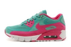 newest 9aa43 d22ec Dam  9UTG8  Nike Air Max 90 BR Foot Locker Skor Grön Rosa Vita Kvinnor