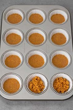Mini Cheesecakes Fáciles – El Mundo Eats 12 muffin tin with paper liners and the mini cheesecakes biscuit base Easy Mini Cheesecake Recipe, Mini Cheesecake Cupcakes, How To Make Cheesecake, Mini Cheesecakes, Light Cheesecake, Cheesecake Factory Restaurant, Quick Dessert Recipes, Easy Desserts, Desert Recipes