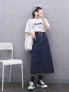 22 Japanese Street Style for Your Holiday Style Idea - Korean Fashion Trends, Korea Fashion, Asian Fashion, Modest Fashion, Skirt Fashion, Fashion Outfits, Fashion Tips, Moda Outfits, Cute Outfits
