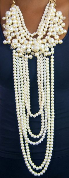 Don't wear your pearls in the shower-the silk thread will become damaged + rot  #pearls #jewelry tips  www.luxuria-jewellery.com