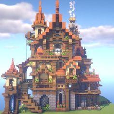Minecraft Castle, Minecraft Medieval, Minecraft Plans, Minecraft Projects, Minecraft Crafts, Minecraft Designs, Minecraft Structures, Steampunk House, Minecraft Architecture