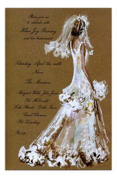 Bridal Lace Invitation