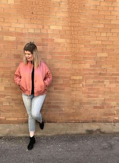 Pink Bomber Jacket | OOTD