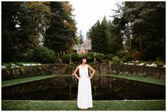 Portland senior photo location: Lewis and Clark College near the Frank Manor House. Photo by Katy Weaver Photography