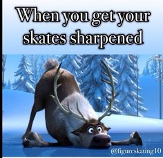 yes! I get so jealous of people who can adjust to newly sharpened skates in one session...