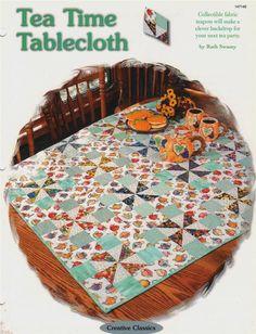 Tea Time Tablecloth Creative Scrap Quilt Pattern Instructions Leaflet #OxmoorHousePatterns