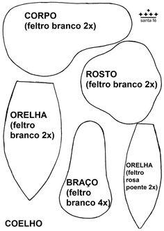 Molde Feltro Coelho