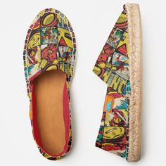 Shop Classic Iron Man Comic Book Pattern Espadrilles created by marvelclassics. Personalize it with photos & text or purchase as is! Original Iron Man Comic, Iron Man Comic Books, Spanish Espadrilles, Men's Fashion, Thing 1, Comic Book Pages, Man Character, Espadrille Shoes, Vintage Iron