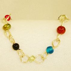 Colorful Recycled Beaded Bracelet by JudysWorkshopdotcom on Etsy