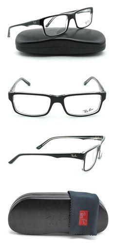 ac586056f8  174.05 - Ray-Ban RX5245 Square Unisex Eyeglasses Black on Transparent  Frame 2034  rayban