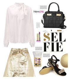 """""""NEWCHIC.COM: Selfie"""" by hamaly ❤ liked on Polyvore featuring Nuuna, NARS Cosmetics, Garance Doré, shoes, ootd, blouse, jackets and newchic"""